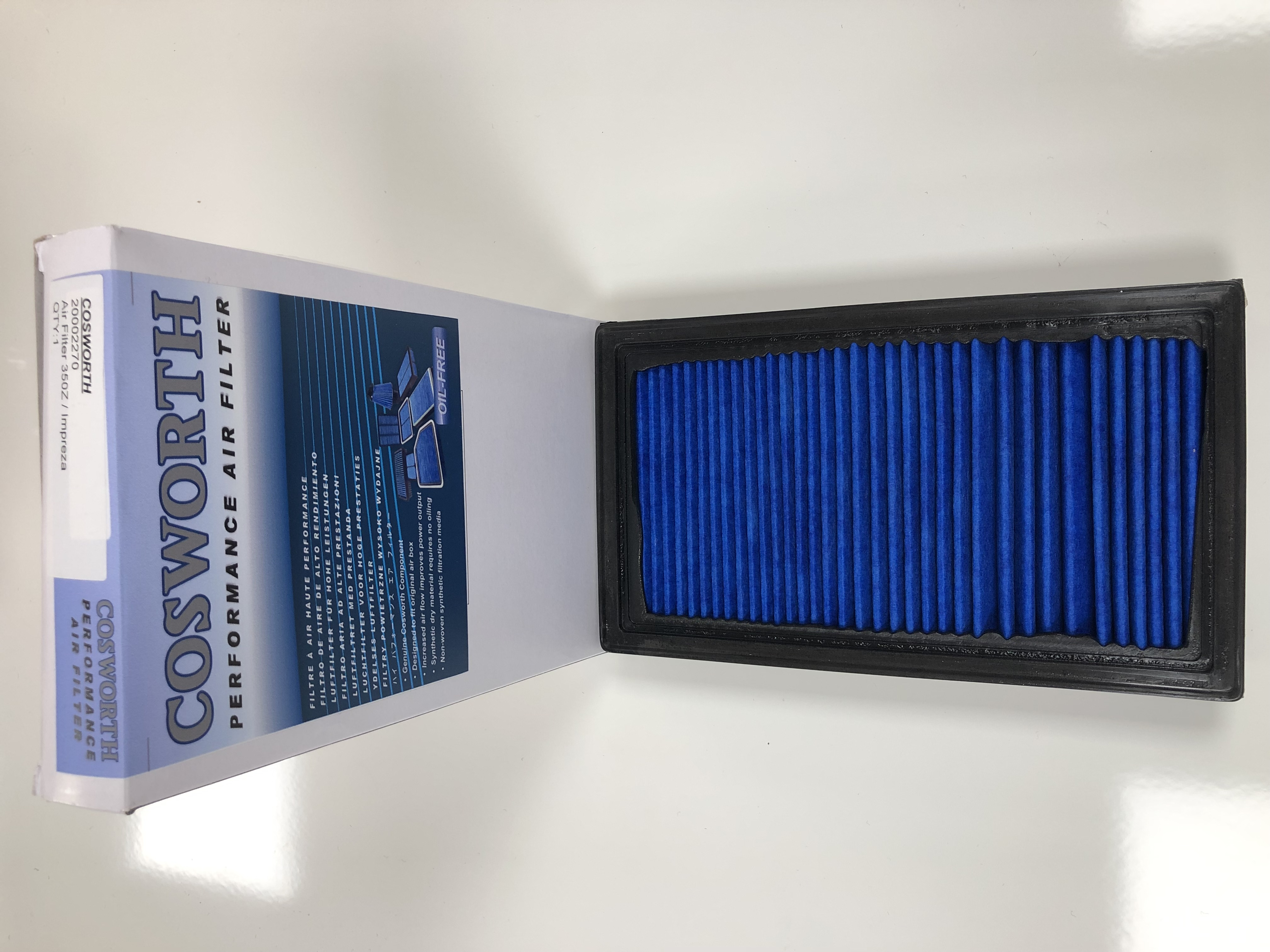 20002270 Cosworth High Flow Performance Replacement Panel Air Filter